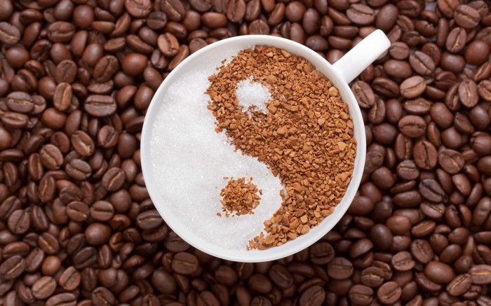 guten morgen kaffee coffee harmonie kaffeebohnen yin yang symbol
