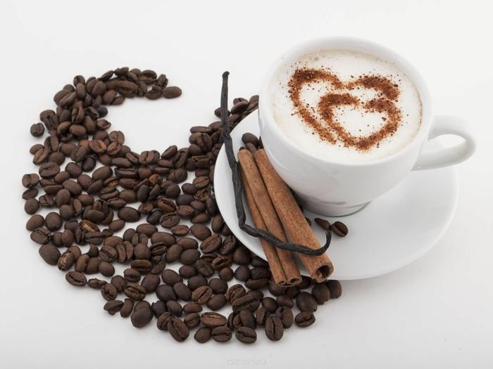 guten morgen kaffee coffee zimtstange kaffeebohnen