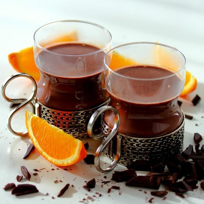 heisse schokolade orangen