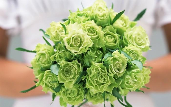 hochzeit strauss gruene rosen