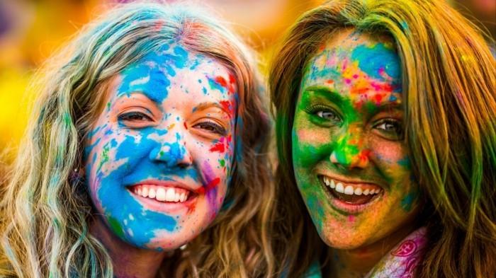 holi farbenfestival lebenfroh