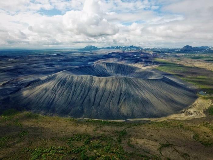 island lanschaft vulkan gebiet