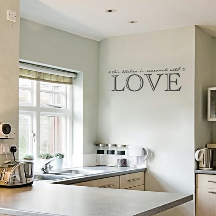 küchen wandtattoos dezente wanddeko wohnideen küche