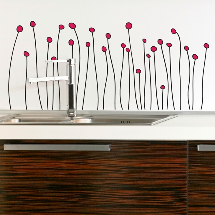 küchen wandtattoos frische wanddeko akzente wohnideen küche