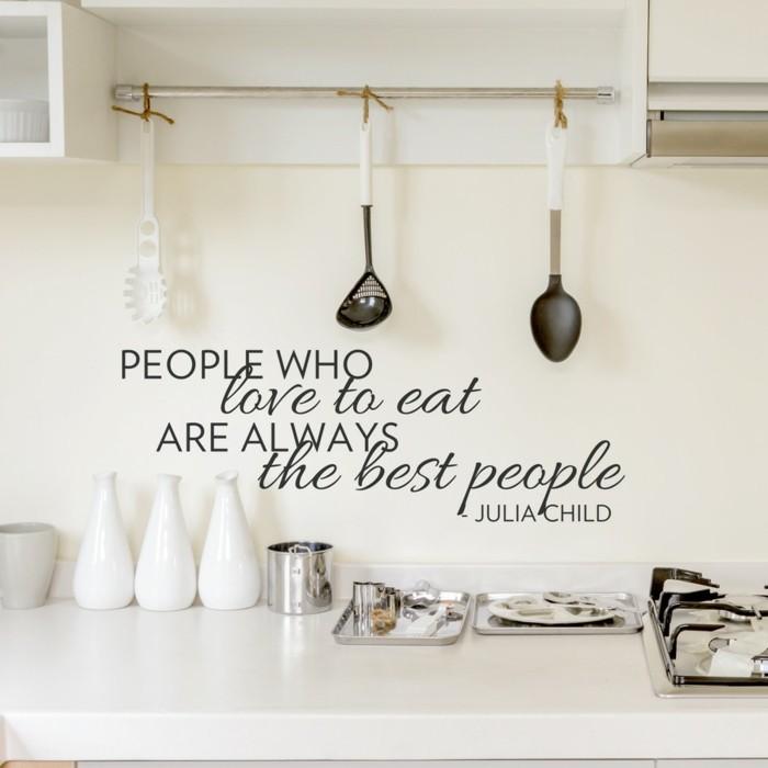 küchen wandtattoos gedanke wohnideen küche
