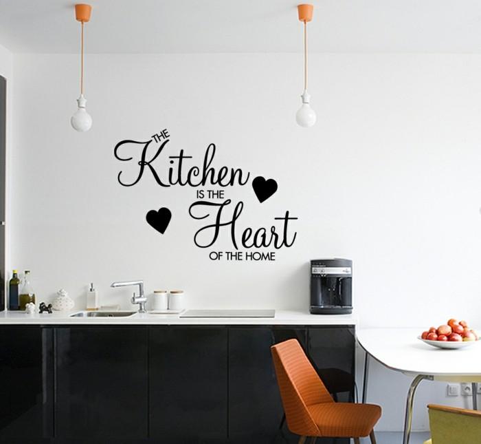 küchen wandtattoos wandsprüche farbige akzente