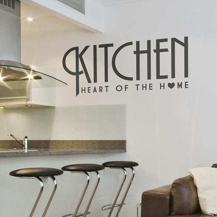küchen wandtattoos wandsticker weiße wände barhocker