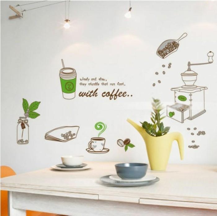 küchen wandtattoos wohnideen küche kaffeesprüche