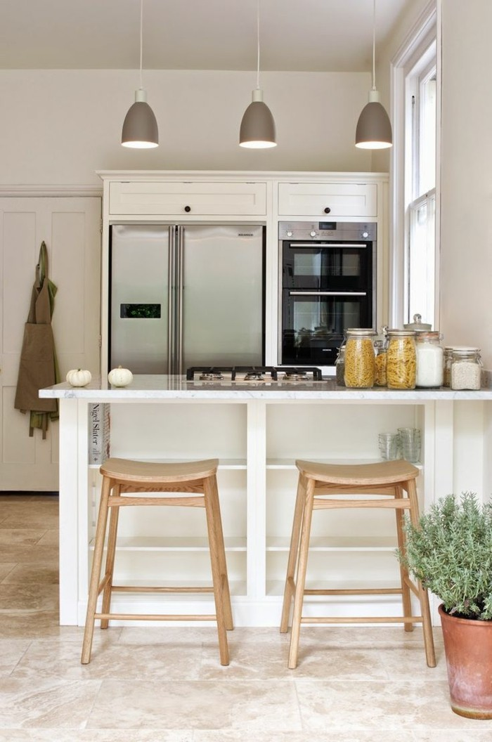 kücheneinrichtung passende beleuchtung pflanzen