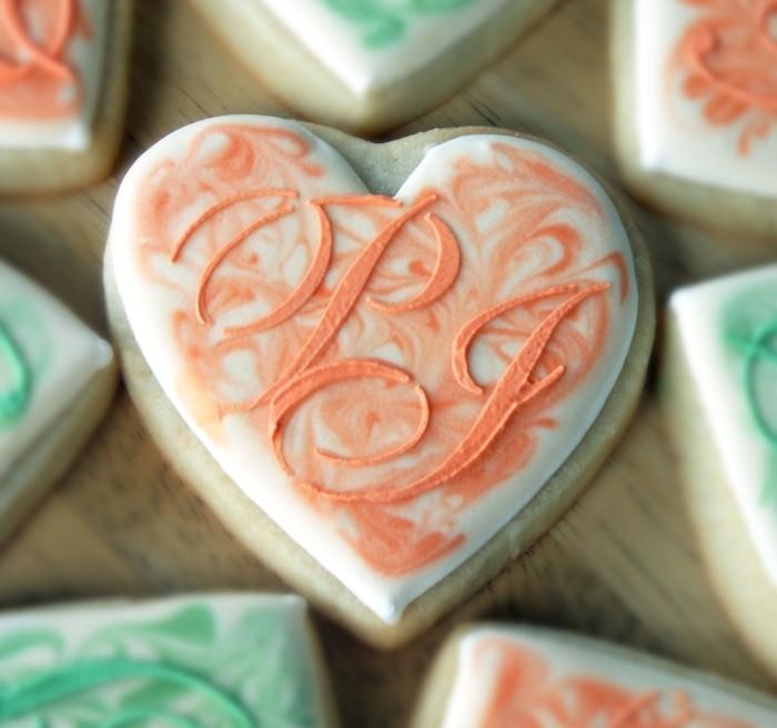 kekse backen hochzeit essen herzen romantisch