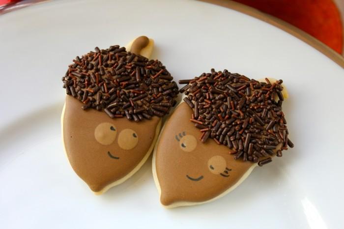 kekse selber backen eichel form
