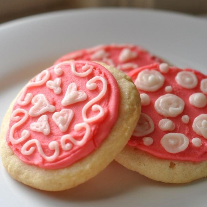 kekse selber backen farbige glasur