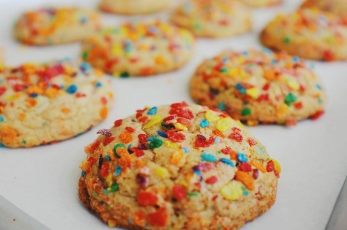 kekse selber backen farbig früchte