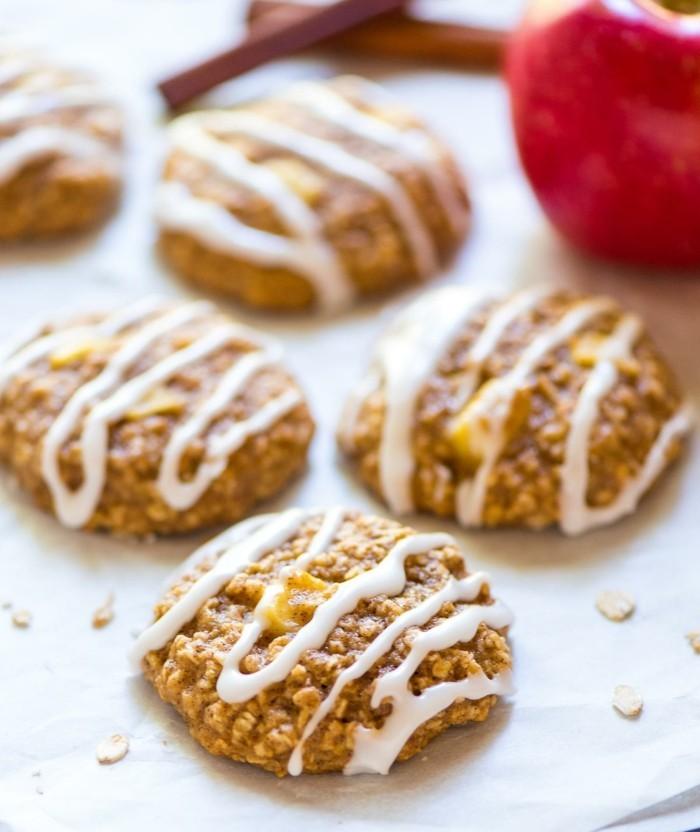 kekse selber backen gesund hafermehl apfel