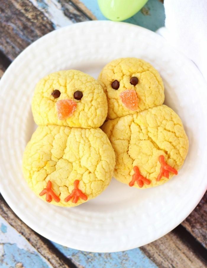 kekse selber backen kücken zitrone