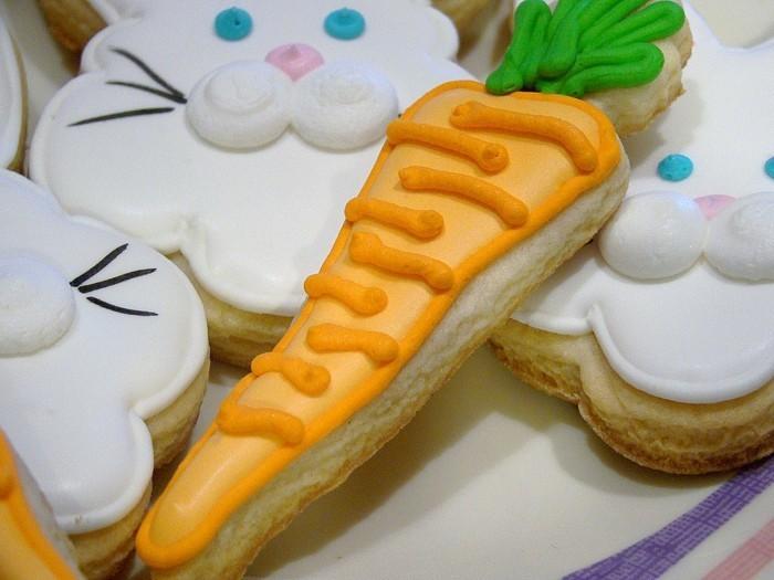 kekse selber backen möhre osterhasen