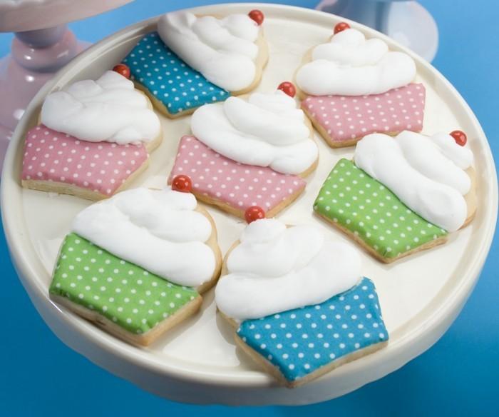 kekse selber backen muffins glasur