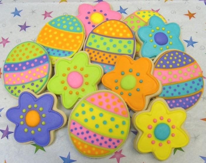 kekse selber backen ostereier blumen