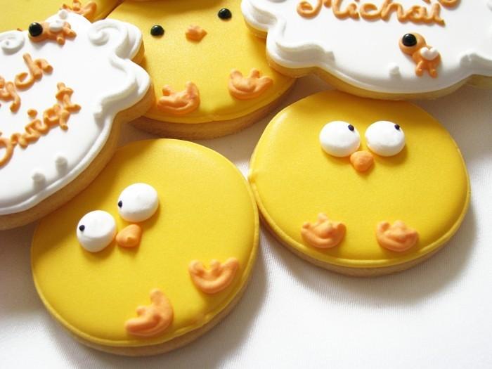 kekse selber backen osterkücken gelb dekoideen