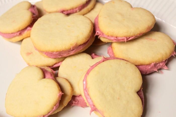 kekse selber backen sandwich kekse herzen