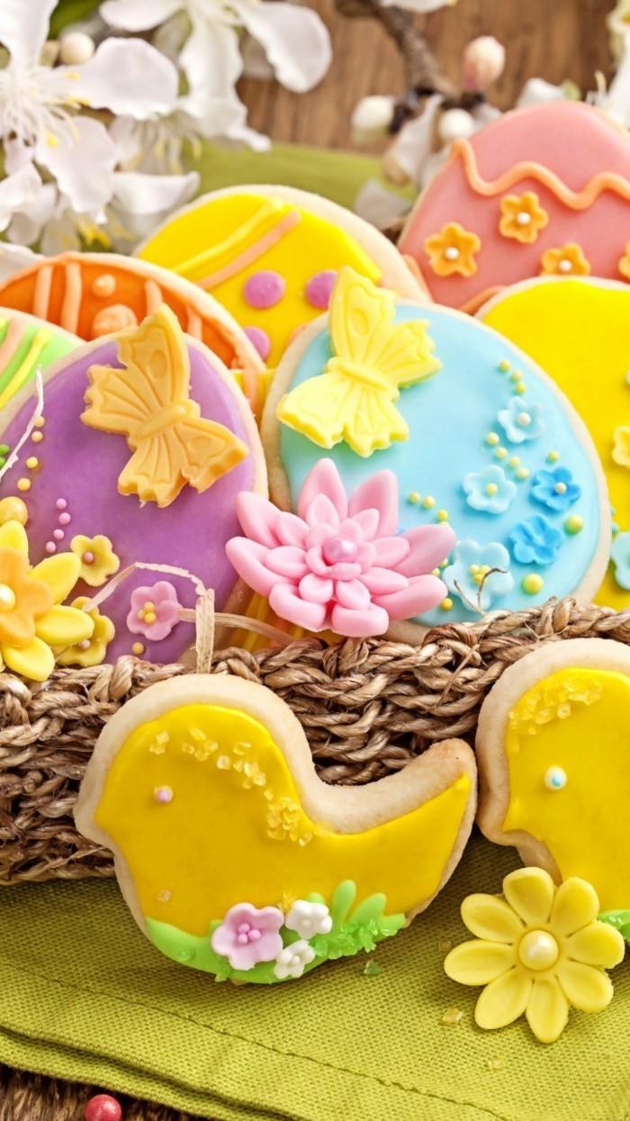 kekse verzieren osterkekse backen ideen lustige formen