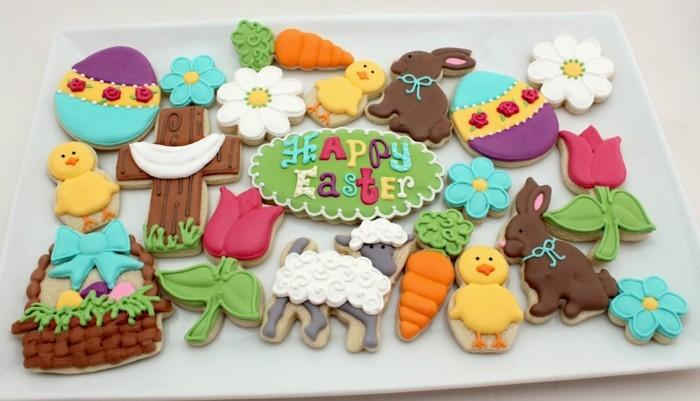 kekse verzieren osterplätzchen osterparty ideen