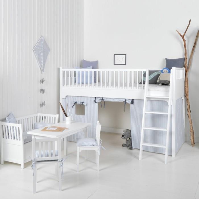kinderzimmer skandinavisch einrichten oliver furniture umbauset weiss hochbett tisch sofa stühle