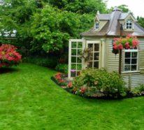 Vom kleinen Schuppen, bis zur schmucken Blockhütte – Gartenhaus ist nicht gleich Gartenhaus