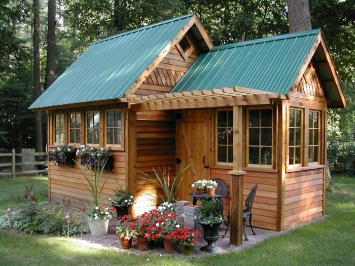 kleine gartenhäuser gartenhaus holz