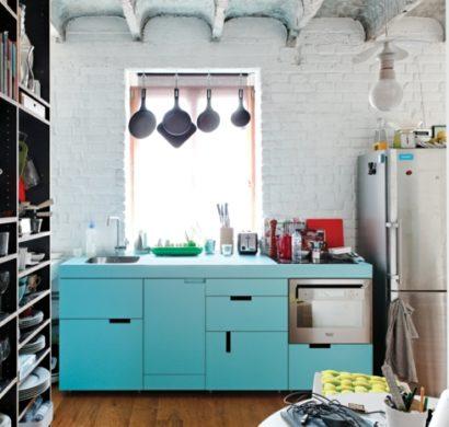 Entzuckend Kleine Küche Einrichten U2013 44 Praktische Ideen Für Individualisierung Des  Kleines Raumes