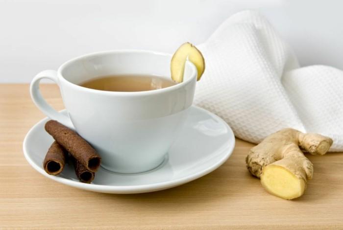 lebensmittel für schöne haut ingwer tee zubereiten