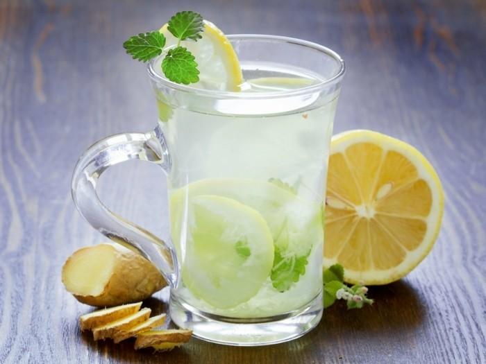 lebensmittel für schöne haut zitrone wasser gesund