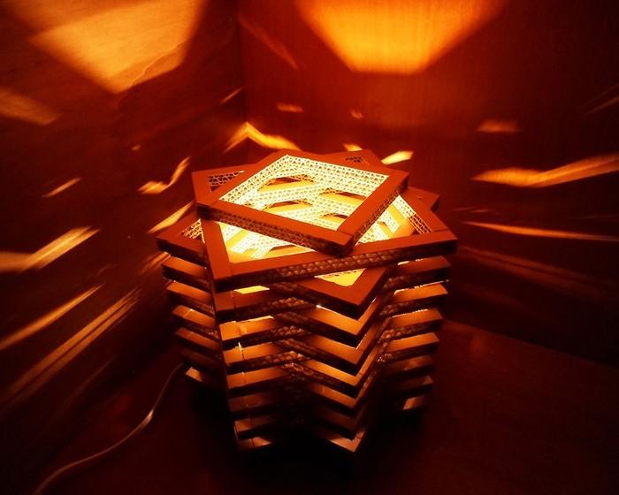 lichtdesign basteln mit pappe 1