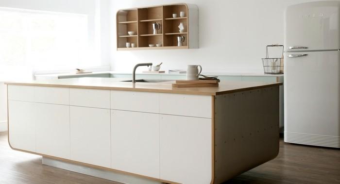 Mineralwerkstoff Hi Macs Kücheneinrichtung Kücheninsel Küchenspüle Smeg  Retro Kühlschrank