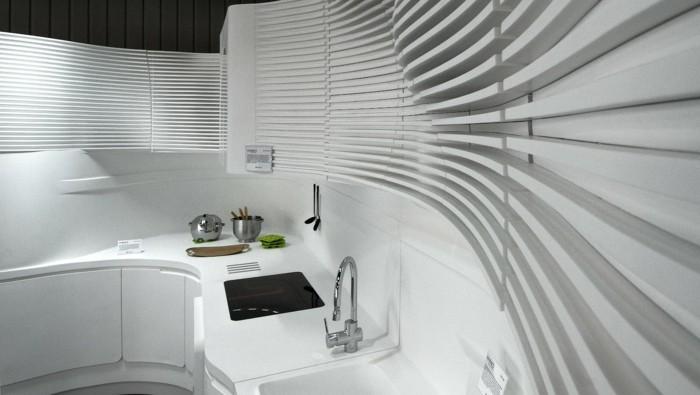 mineralwerkstoff hi macs küchengestaltung modernes innendesign