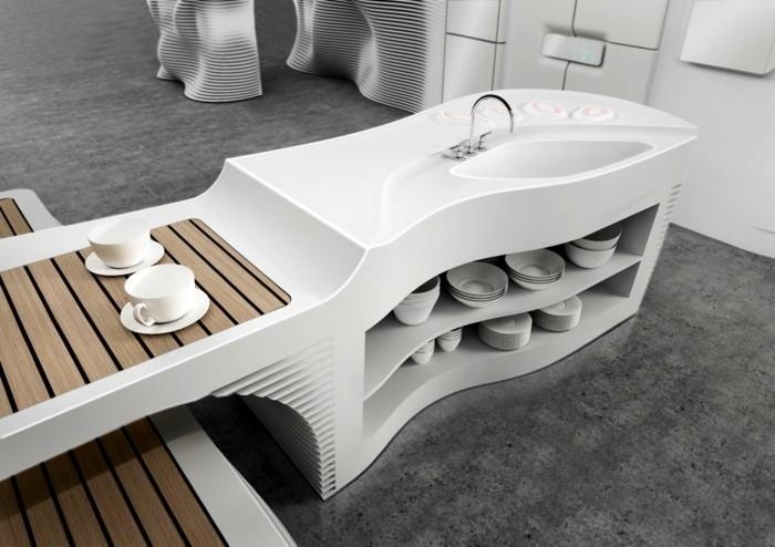 Mineralwerkstoff Hi Macs Küchengestaltung Spüle Kücheninsel Innovatives  Material