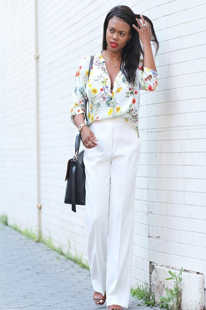 mode für frauen eleganter look weiße damenhose