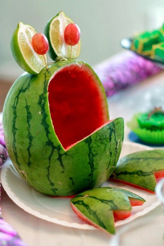 obst schnitzen dekoideen wassermelone