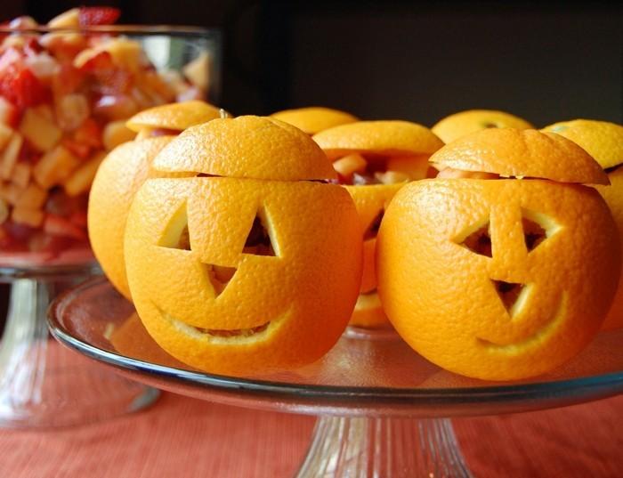 obst schnitzen orangen halloween