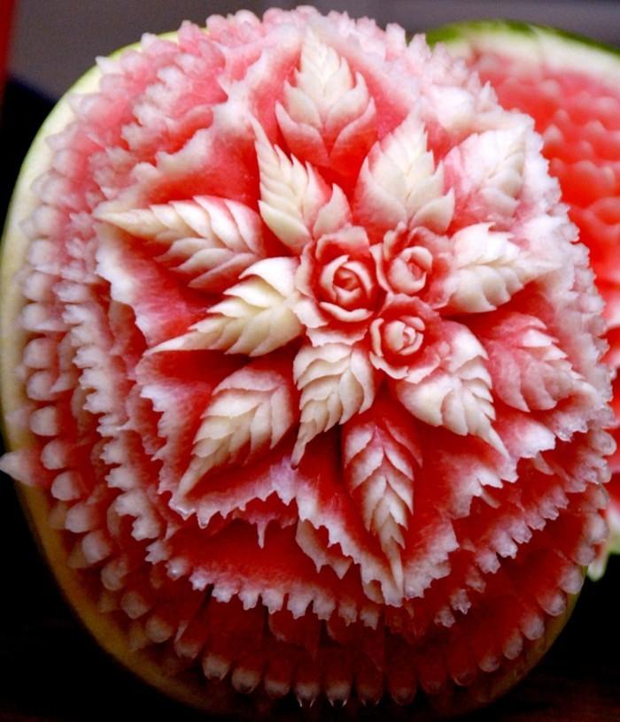 obst schnitzen wassermelone dekorativ diy