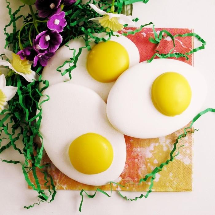 osterplätzchen backen kekse dekorieren ausgefallene spiegeleier
