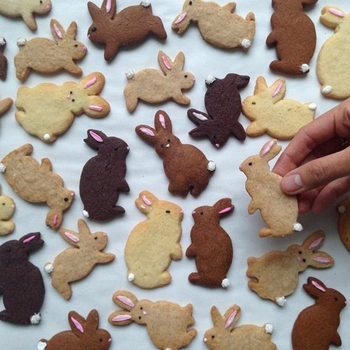 osterplätzchen backen kekse verzieren osterhasen dekorieren ausgefallen