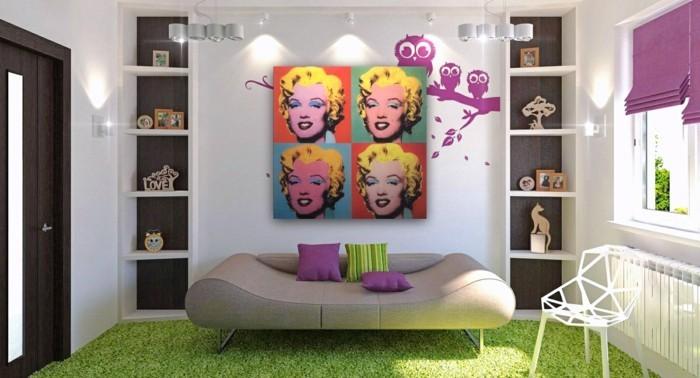 pop art kuenslter inneneinrichtung