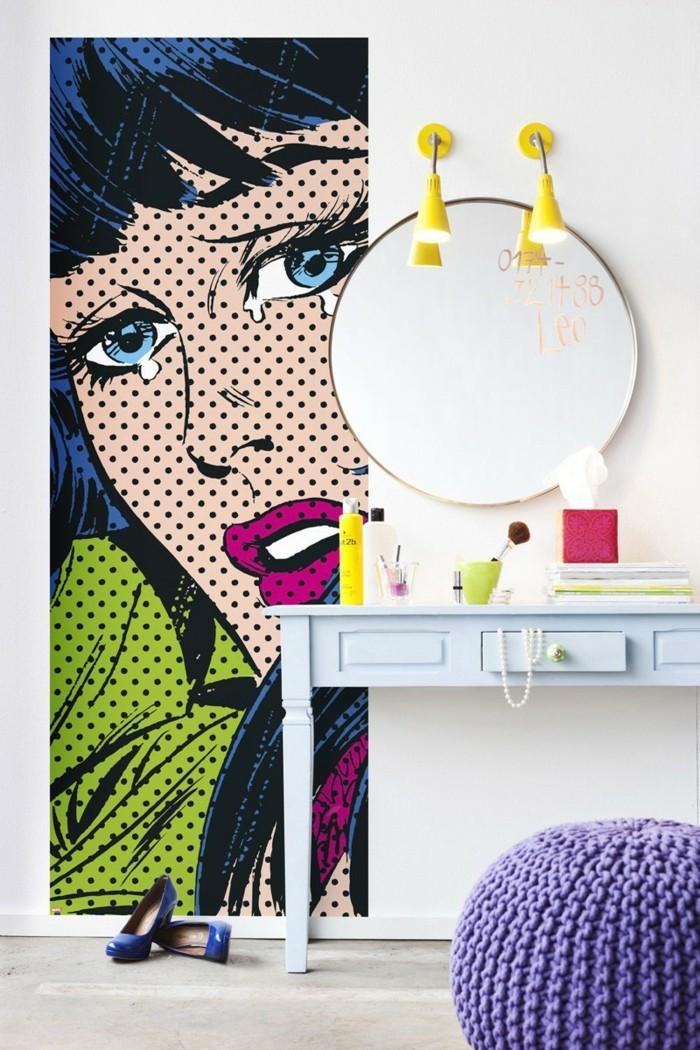 pop art schlafzimmer