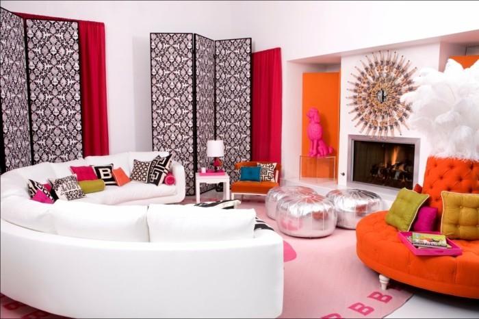 pop art wohnzimmer dekoration