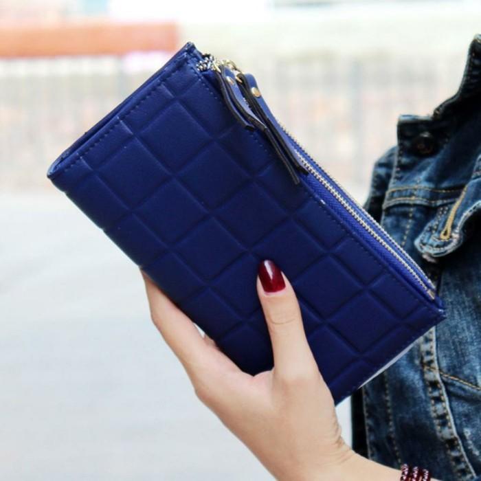 portmonee kaufen damen geldbörse blau reißverschluss