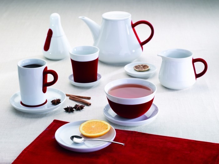 porzellan geschirr kahla touch teller schüsseln tee trinken