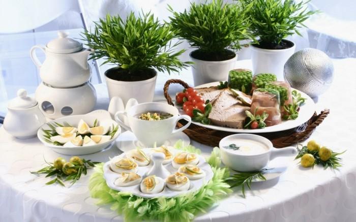 porzellan geschirr ostern tischdekoration delikatessen