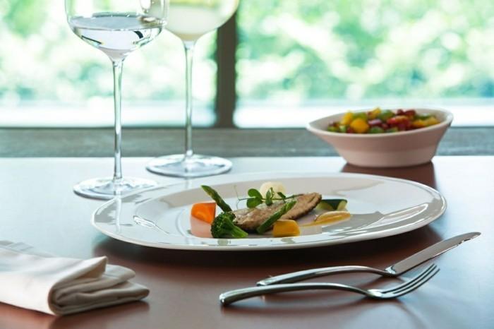 porzellan geschirr rak teller tischdekoration gesundes essen gemma bernal