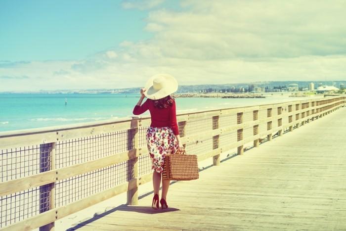 reisen alleine strand